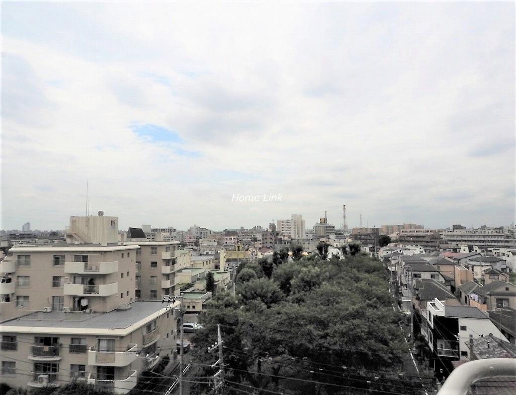上板橋サンライトマンションAH棟7階 開けた気持ちいい眺望が広がります