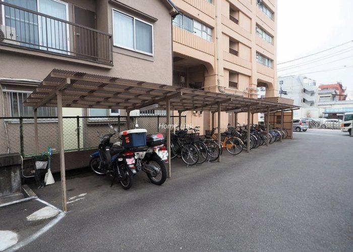 志村ハビテーション バイク置場