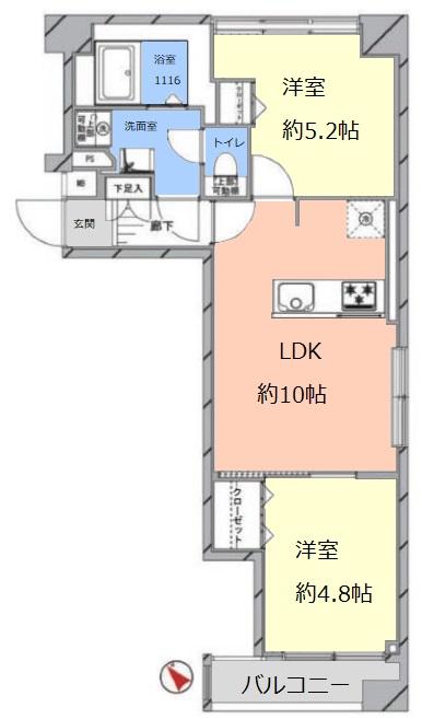 志村ハビテーション3階 間取図