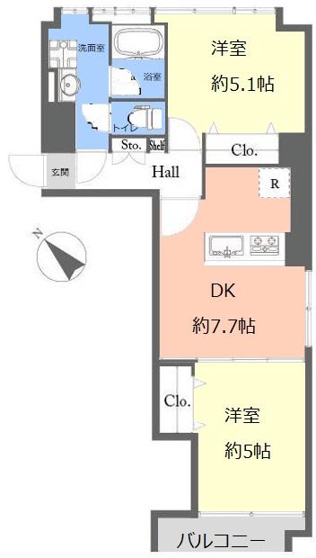 志村ハビテーション9階 間取図
