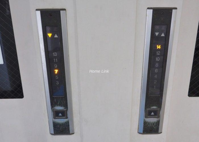 第1上板橋サンライトマンションAH棟 エレベーター停止階