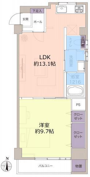 ウィスタリアマンション板橋志村10階 間取図