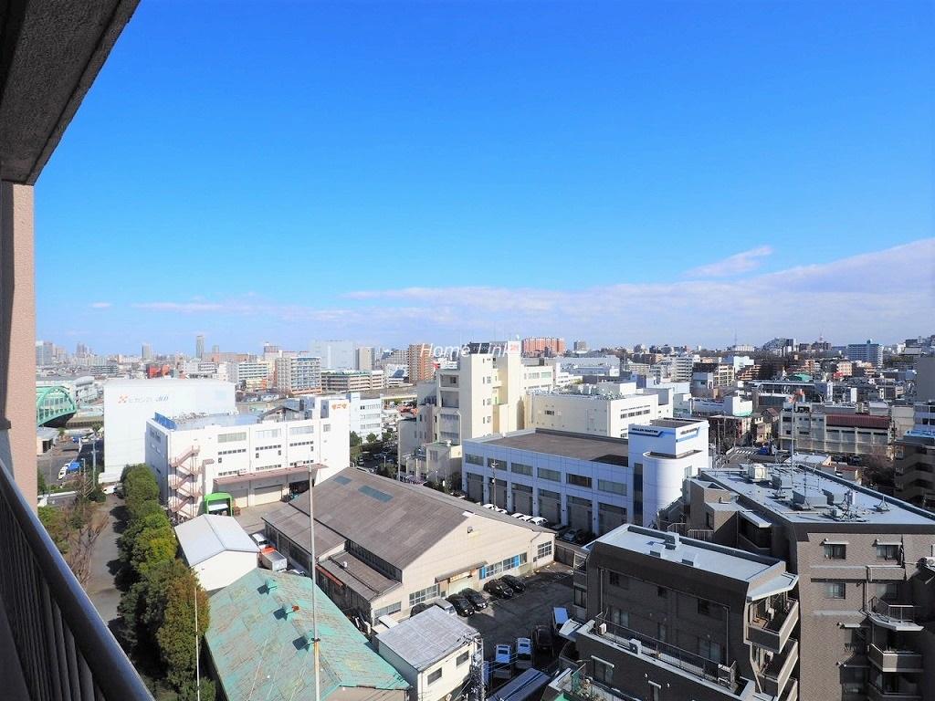 ウィスタリアマンション板橋志村12階 最上階からの眺望