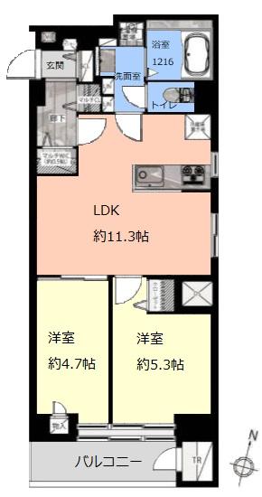 ウィスタリアマンション板橋志村12階 間取図