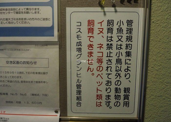 コスモ成増グランヒル 掲示物
