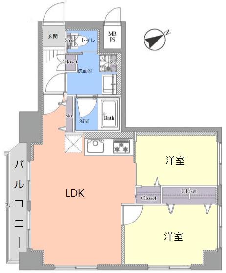 ハイネス成増8階 間取図