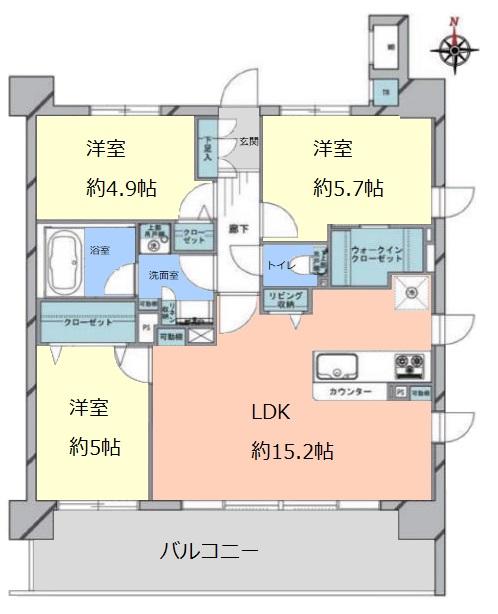 リスタ東武練馬アソシア5階 間取図