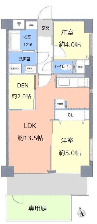 レーベンハイム常盤台1階 間取図(新)