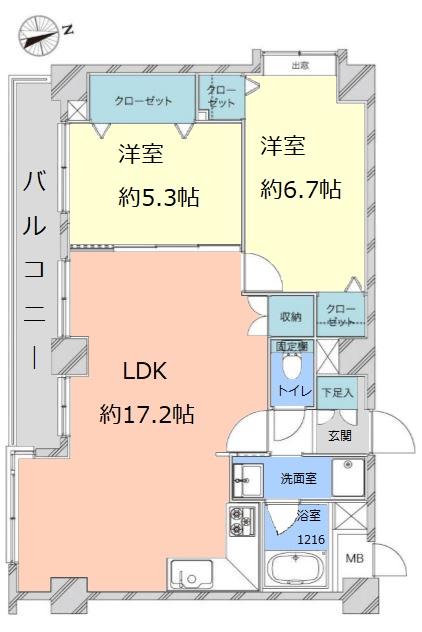 レーベンハイム常盤台3階 間取図