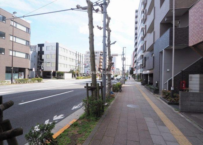 中板橋サニーコーポ 前面道路歩道