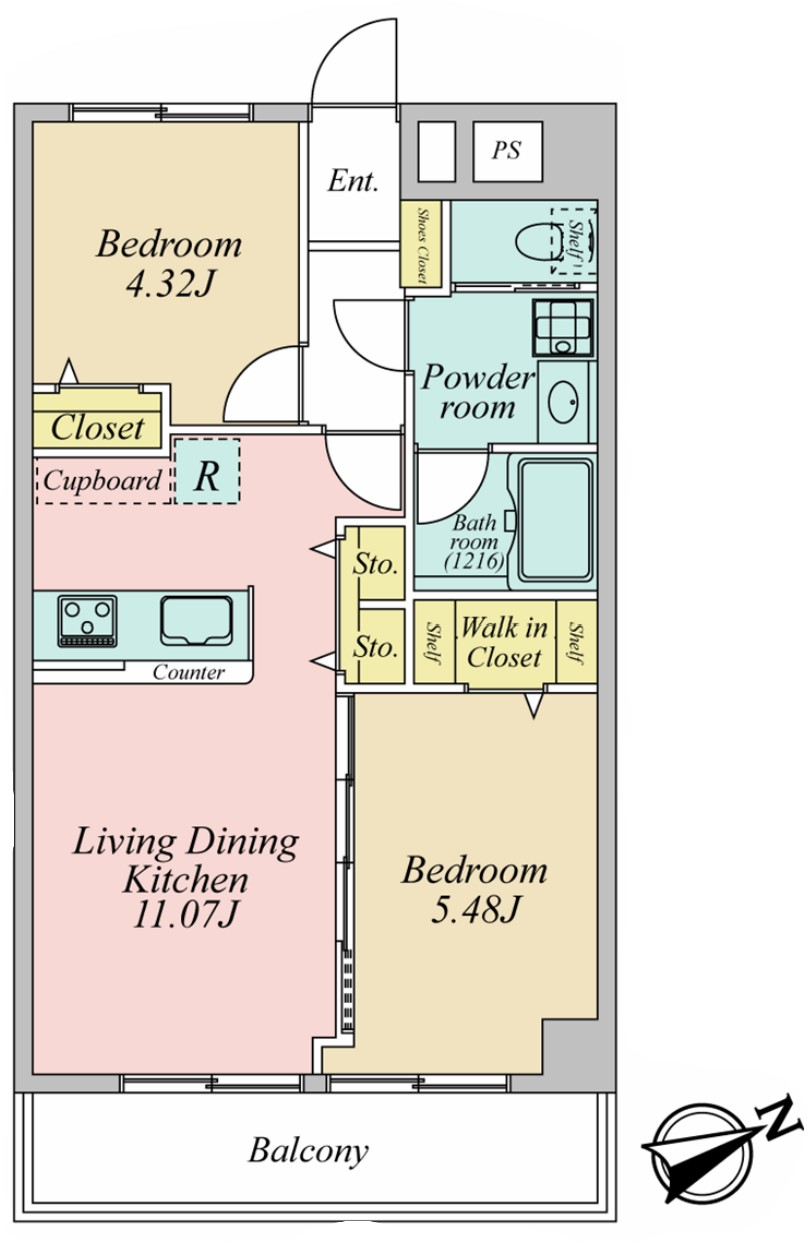 カースル常盤台4階 間取図