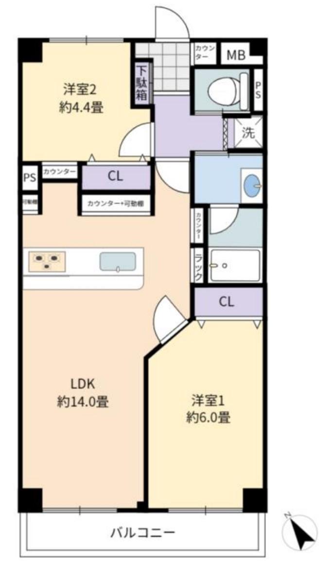 ライオンズマンション上板橋3階 間取図