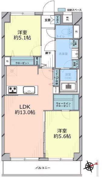 ライオンズマンション上板橋5階 間取図