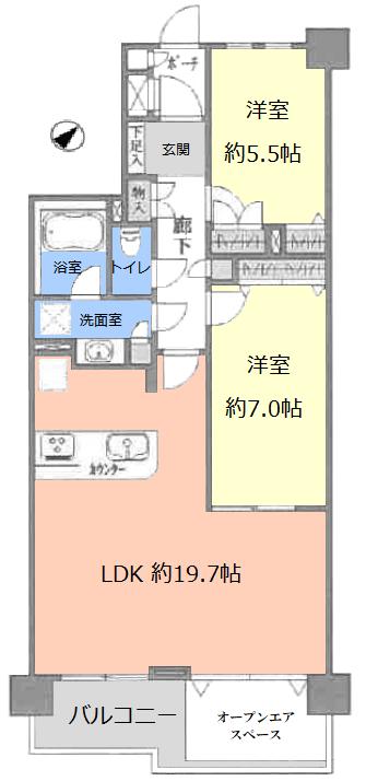 グランシティ志村坂上2階 間取図