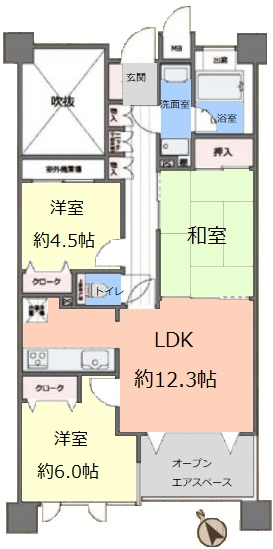 グランシティ志村坂上3階 間取図