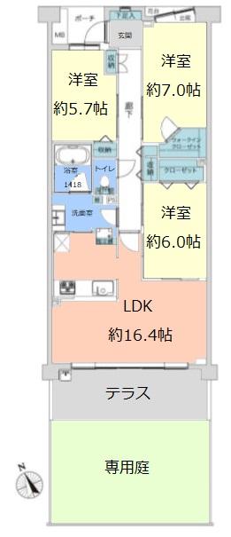 パークスクエア成増1階 間取図
