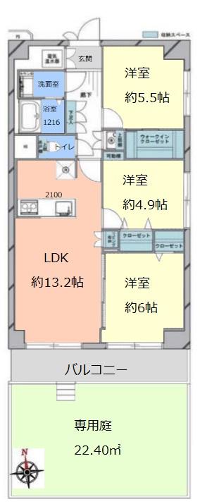 志村サンハイツ1階 間取図