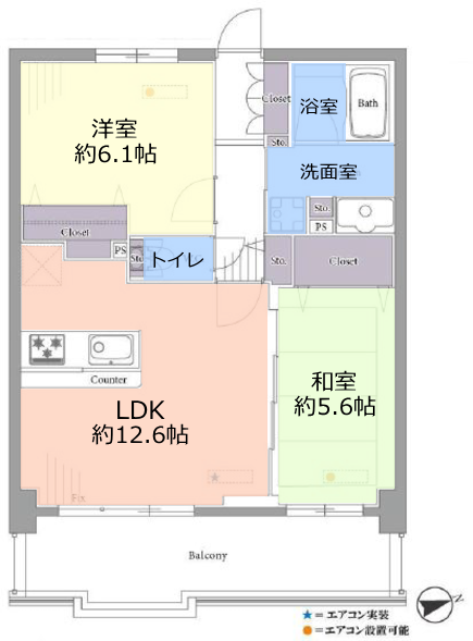 志村レジデンス3階 間取図