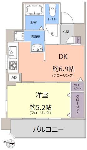 志村三丁目フラワーホーム4階 間取図