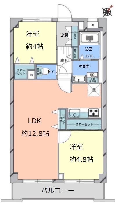 コスモ成増2階 間取図