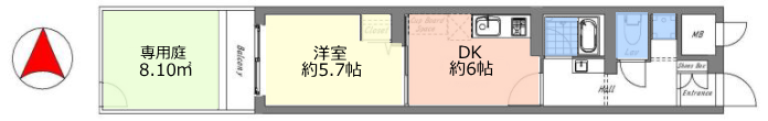 サンシュウ常盤台第1コーポ1階 間取図