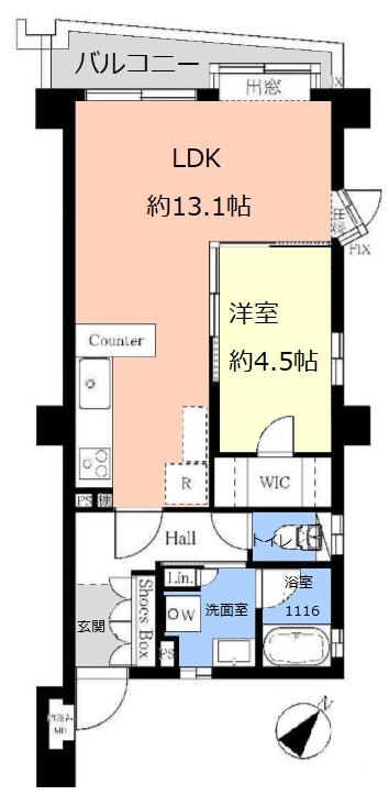 セーヌヴァン・シッス2階 間取図