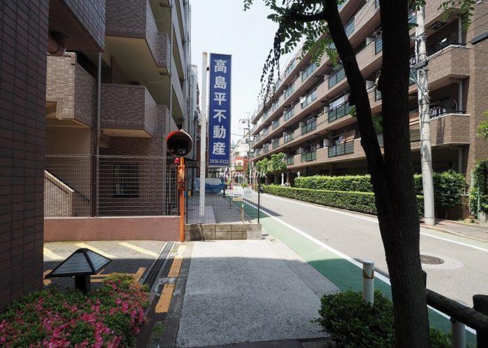 ソレイユ高島平Ⅰ 前面道路歩道