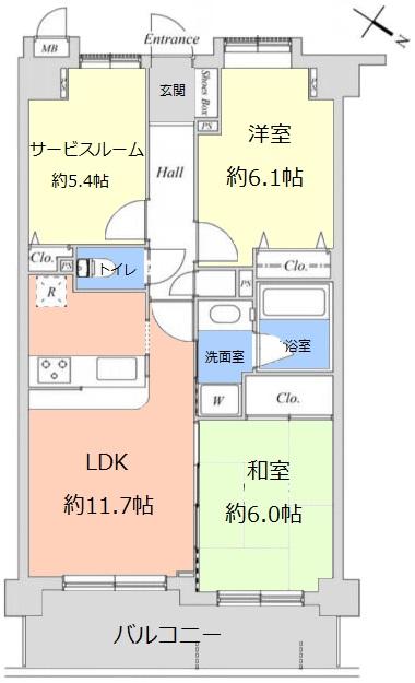 ルピナス赤塚ツインズガーデン弐番館3階 間取図