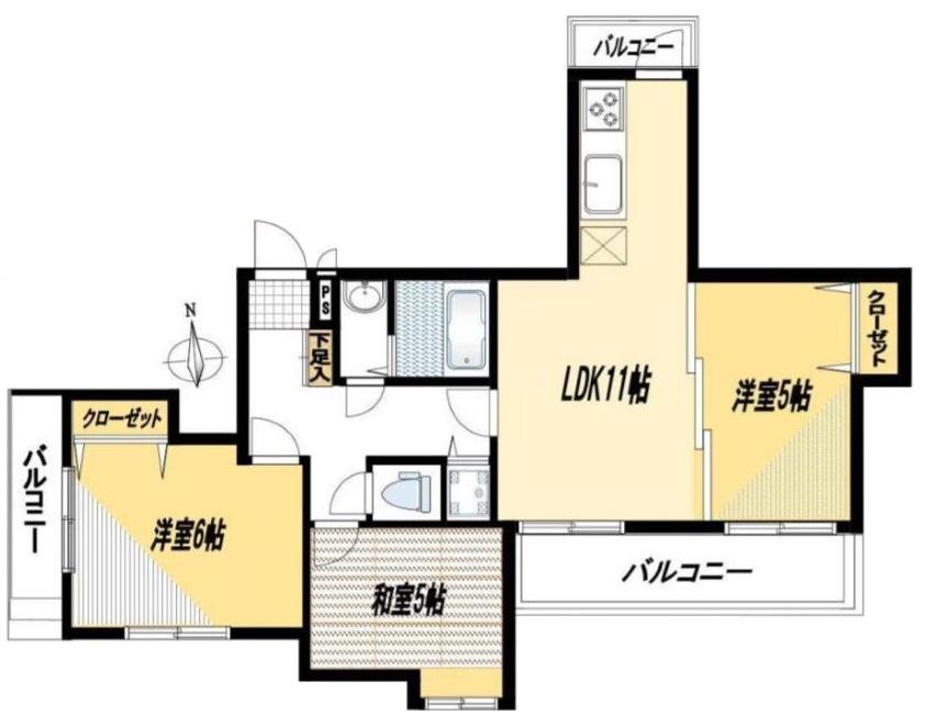 レスポワール成増3階 間取図