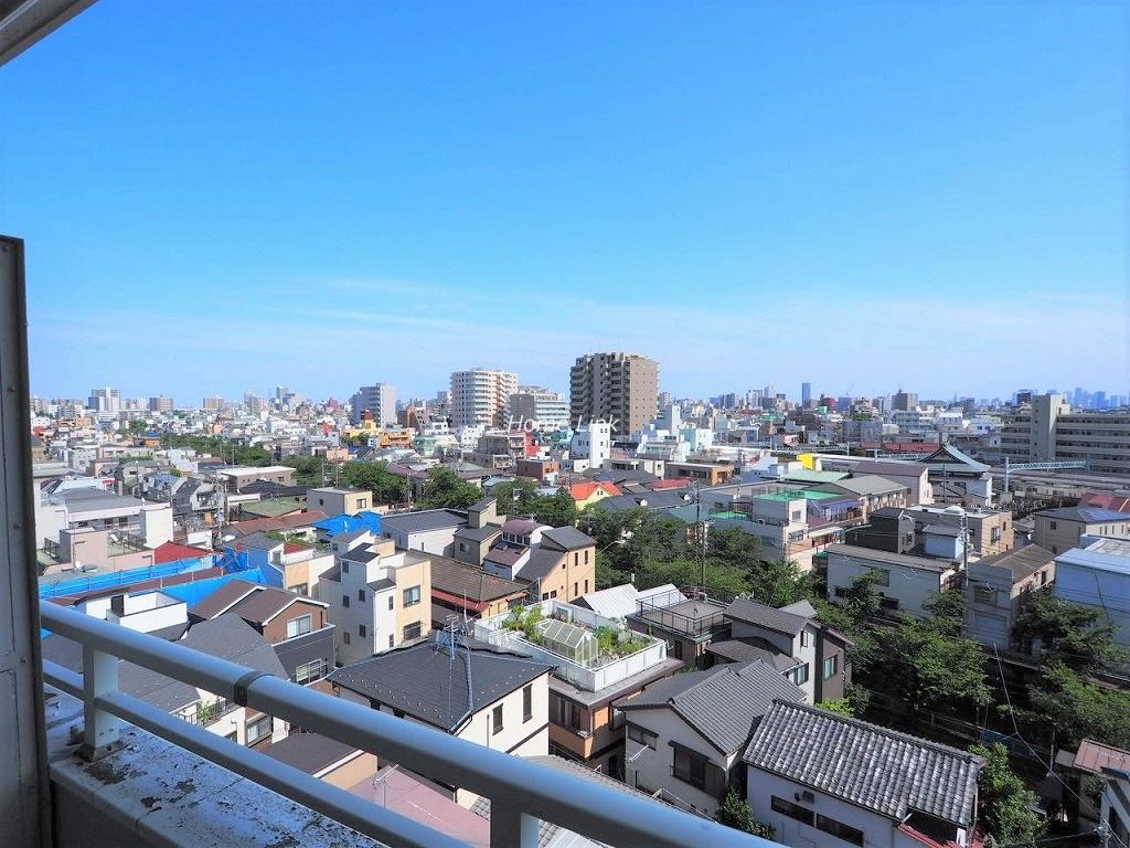 常盤台カーネル8階 最上階からの眺望