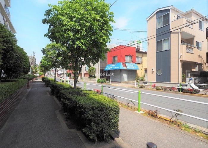 蓮根スカイマンション 前面道路歩道