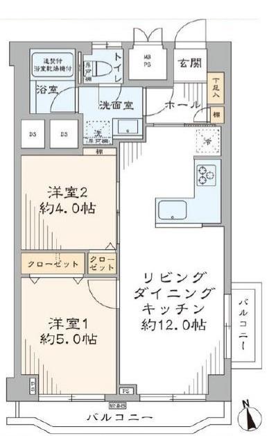 メゾンゴールド5階 間取図