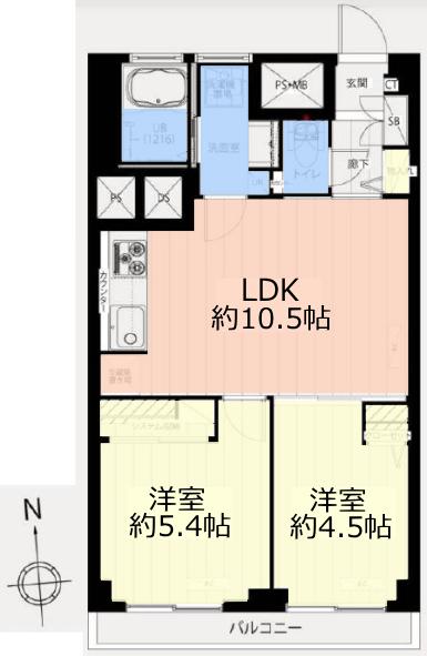 メゾンゴールド7階 間取図