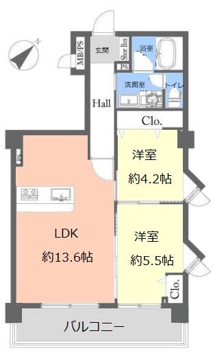 ライオンズマンション北池袋7階 間取図