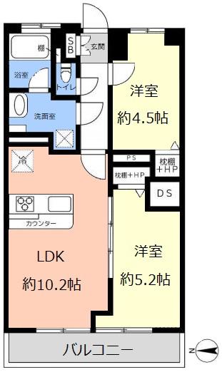 朝日板橋マンション9階 間取図