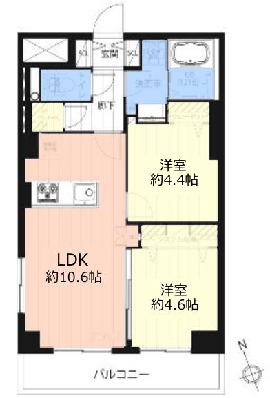 桜川グレースマンション5階 間取図