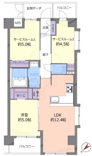 コスモ高島平7階 間取図