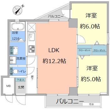 常盤台グリーンハイツ3階 間取図