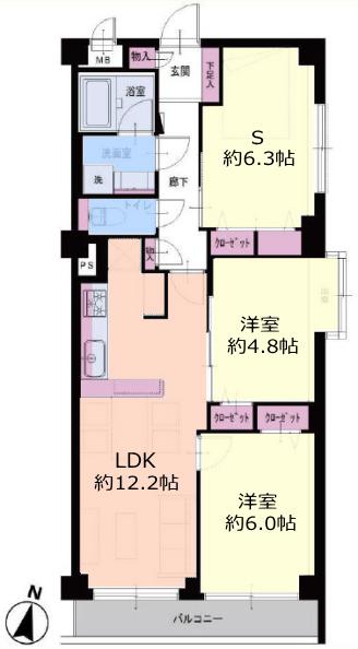 成増ガーデンハイツ1階 間取図