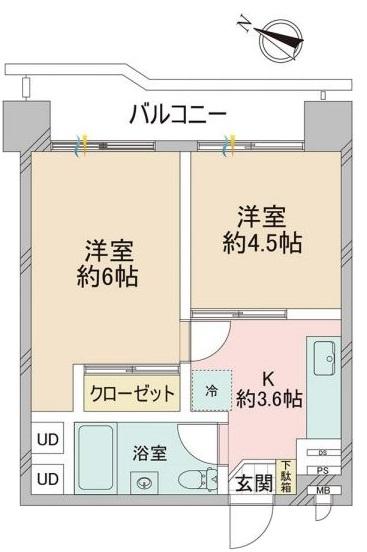 蓮根台ダイヤモンドマンション12階 間取図