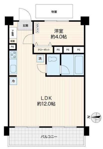 蓮根台ダイヤモンドマンション13階 間取図