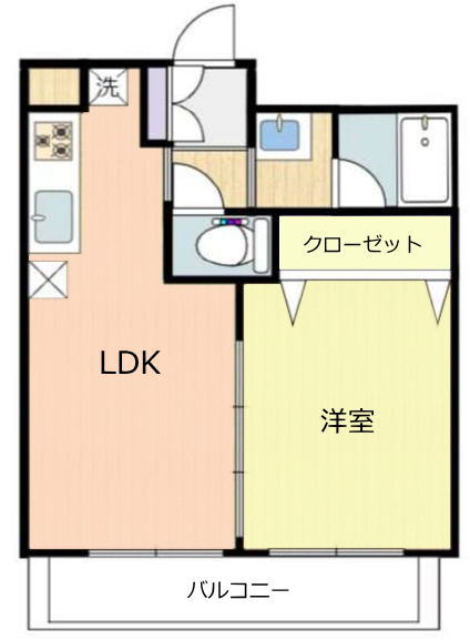 蓮根台ダイヤモンドマンション3階 間取図