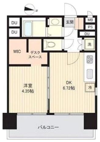 蓮根台ダイヤモンドマンション5階 間取図