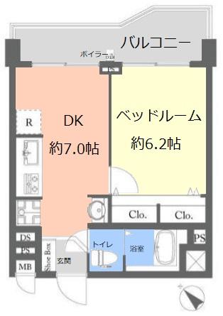 蓮根台ダイヤモンドマンション8階 間取図