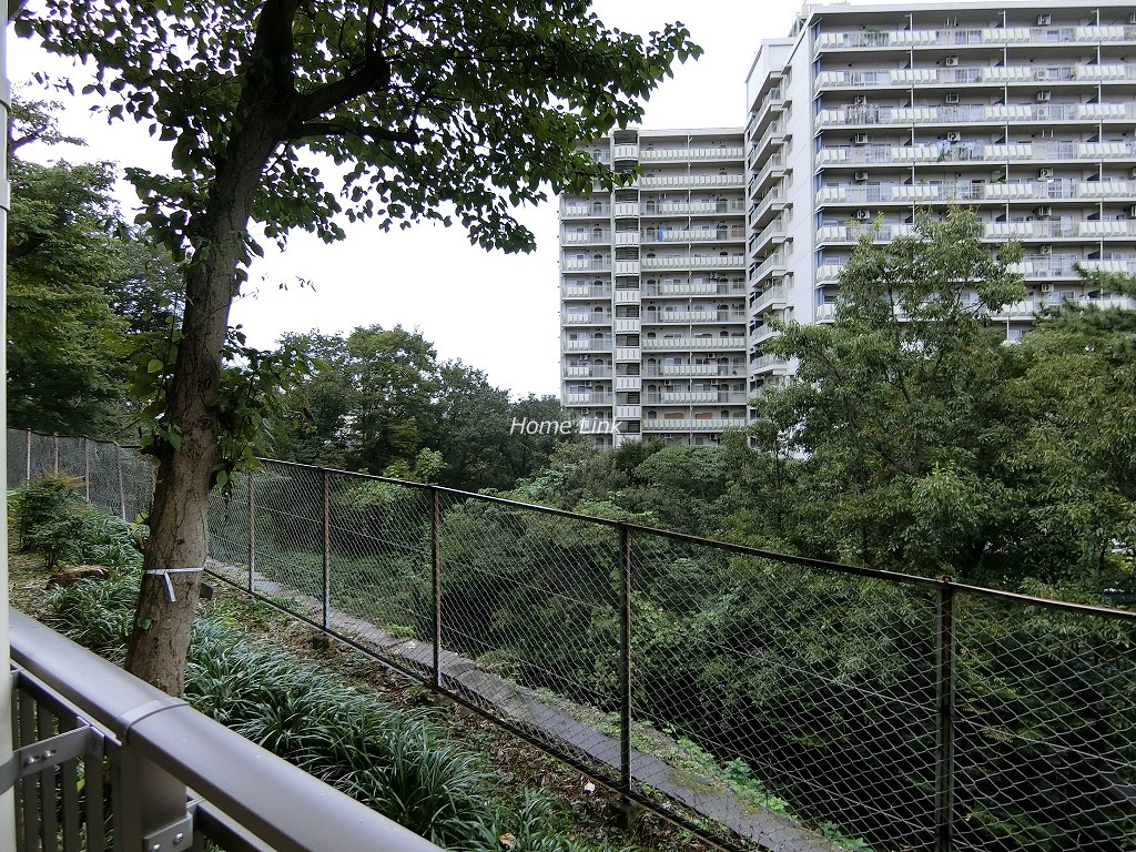サンシティ東の丘 K棟1階 1階住戸でも3~4階程の高さ