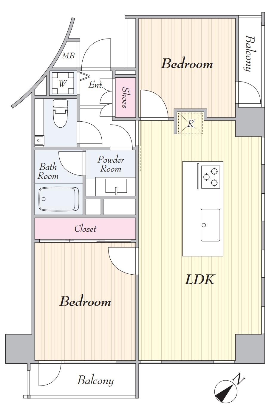 池袋シティハウス3階 間取図