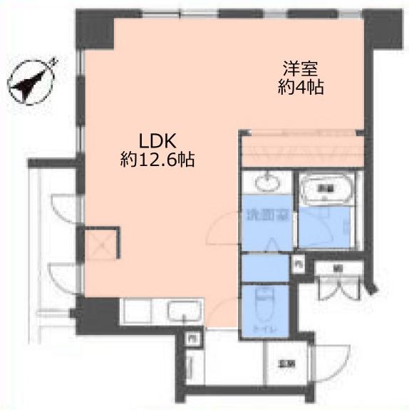 池袋シティハウス8階 間取図