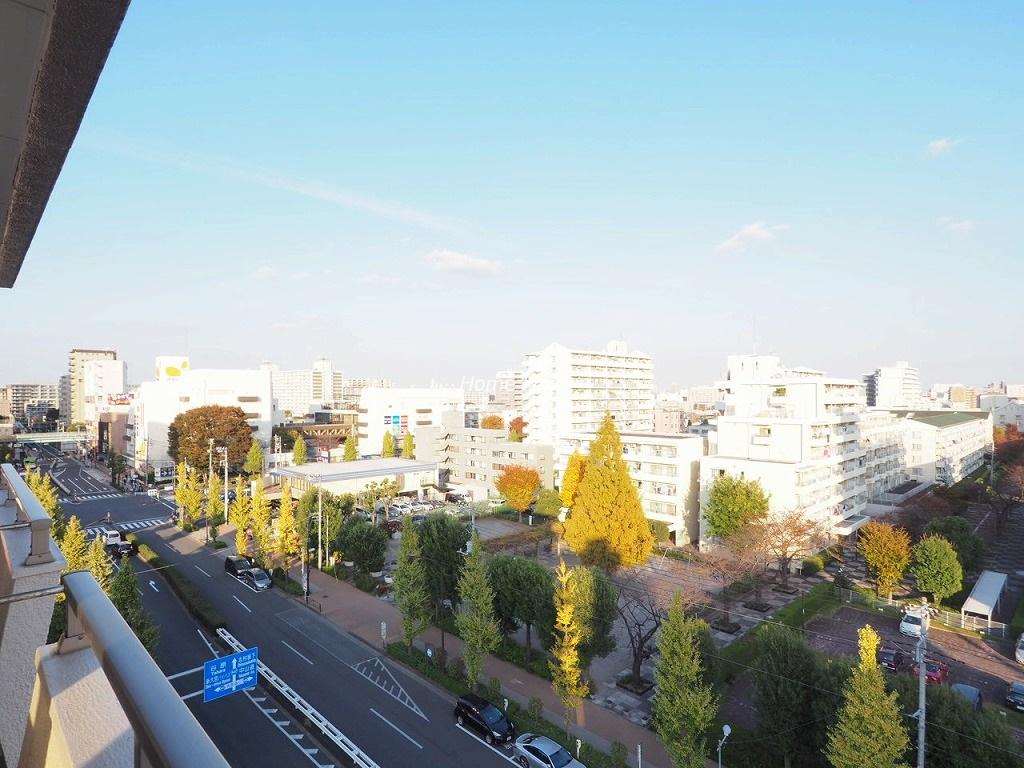 高島平サンパワー8階 最上階からの眺望