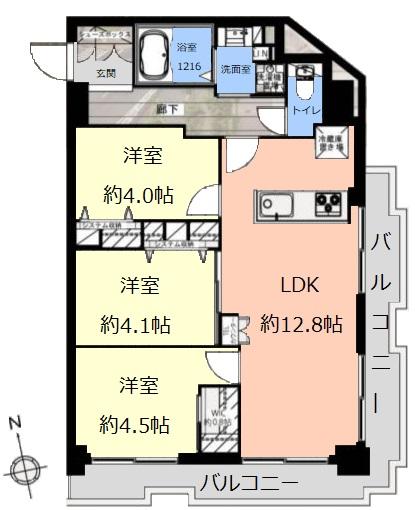 高島平サンパワー8階 間取図