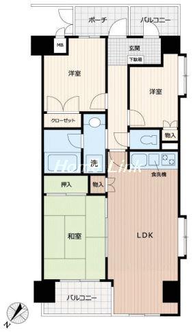 コスモ高島平1階